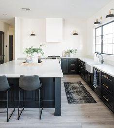 Minimal Kitchen Wonderlost Kitchen In 2018 Cocinas Küchen Design, Home Design, Interior Design Studio, Black Kitchens, Cool Kitchens, Dream Kitchens, Home Decor Kitchen, New Kitchen, Kitchen Decorations