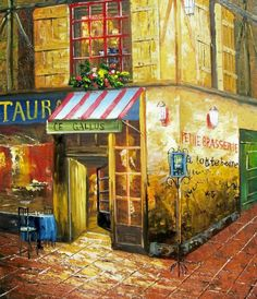 pictures of cafe paintings, europe - Bing Images
