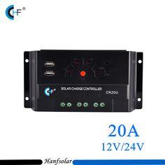 5pcs/lot PWM Solar Charge Controller USB 20A LED Full PWM Charge Management for Max 50V 520W Solar Panel CK20U-20A NEW Regulator