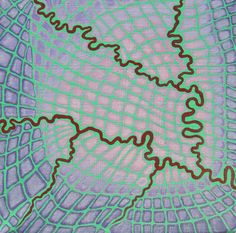 map inspired paintings, #30 in a series of 40.  http://wildartwork.blogspot.com/