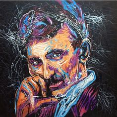 Creativity is a Choice. Tesla by Colm at #CommissionanArtist