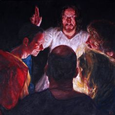 Rob Floyd Fine Art - Stations of the Resurrection, 7. Christ Gives the Power to Forgive Sins