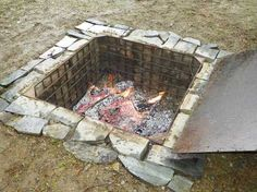 Underground Fire Pit Cooking Build An Outdoor Cooking Area Cast Iron Dutch Oven Dutch Ovens Outdoor Cooking Area, Outdoor Oven, Outdoor Fire, Outdoor Living, Outdoor Kitchens, Backyard Projects, Outdoor Projects, Fire Cooking, Slow Cooking