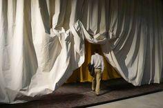 The Biennale de Lyon Part 1 Theatre Design, Stage Design, Set Design, Biennale De Lyon, Film Inspiration, Matte Painting, Curtain Designs, Box Art, Portfolio Design