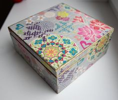 Ready to shipFloral decoupage box decorated wood by Diumont
