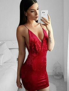 Women's Velvet Mini Club Dress