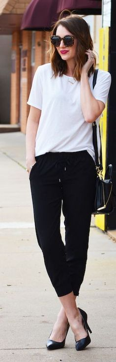 awesome Jogger Pants Outfit Idea