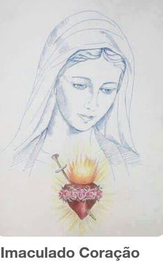 Reminds me of my own sketch Blessed Mother Mary, Divine Mother, Blessed Virgin Mary, Religious Icons, Religious Art, Religious Images, Images Of Mary, Love Images, Religiosidad Popular