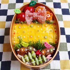 お弁当が劇的にかわいくなる!「編み編みオムライス」がインスタで話題 - macaroni