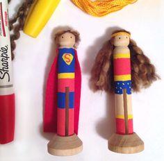 Superman and Wonderwoman Post
