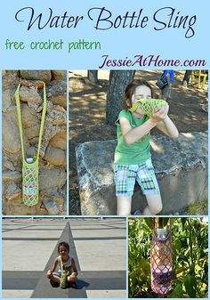 Water Bottle Sling ~ free crochet pattern by Jessie At Home