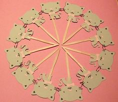 Kitten Cupcake Toppers - set of 12, kitty birthday, cat birthday, cat party, baby shower, on Etsy, $14.00