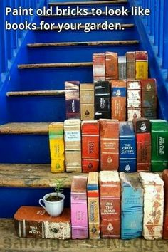 Omgosh how cool is this! Old brings made into books to add in your garden!! ❤️