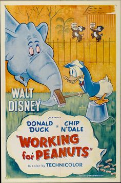 Theatrical poster of Donald Duck in Working for Peanuts.