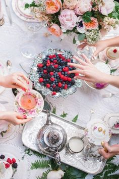 Tea Party Dessert Table for my whimsical romantic tea party for me and my girls? Tea Party Desserts, Tea Party Table, Baking Desserts, Health Desserts, Afternoon Tea Parties, Afternoon Tea Table Setting, Tea Party Setting, Boho Home, All I Ever Wanted