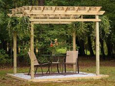 Create shade in your outdoor space with a stylish pergola.