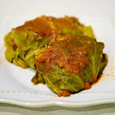Polish Golumpki (Stuffed Cabbage) Recipe - for a #paleo version, place fresh cauliflower in a food processor and pulse until it looks like rice - use this in place of the rice)