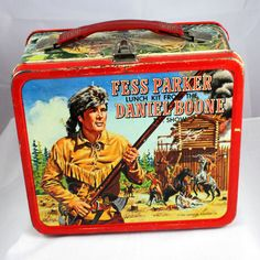 """1965 Fess Parker Lunch Kit from the Daniel Boone Show. Woo Hoo! Finally have one! """")"""