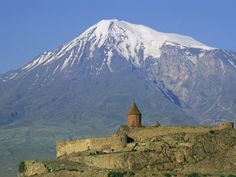Mount Ararat at the border to Armenia