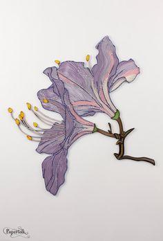 Flower Graphic Design 3 Handmade Quilling Paper by PapertalkVN