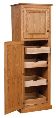 amish kitchen cabinets | Amish Country Traditional Kitchen Pantry Storage Cupboard Cabinet Roll ...