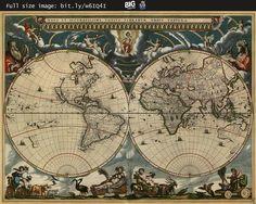 Blaeu's #map of the World (1684) --   http://www.bigmapblog.com/2012/blaeus-map-of-the-world-1684/