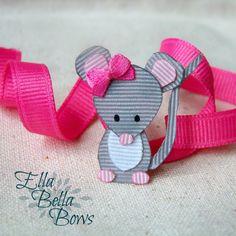 Bosque ratón cinta escultura pelo Clip, colección de criaturas del bosque, bosque pelo arco