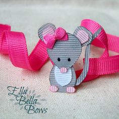Woodland Mouse Ribbon Sculpture Hair Clip, Woodland Creatures Collection, Forest…