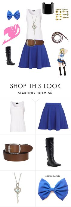 """""""Lucy Heartfilia: Fairy Tail"""" by angle12345 ❤ liked on Polyvore featuring Sally&Circle, River Island, G-Star Raw, Head Over Heels by Dune, Victoria Townsend and MANGO"""