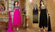 Buy now latest #Bollywood #AnarkaliSuits at Shoppers99.  we are offering very low #price of #celebrityanarkali suit, designer Anarkali Dresses & bollywood inspired anarkali Salwar kameez online.  Which One you like the most Pink Or Black. ????   Shop Now:- http://www.shoppers99.com/bollywood/karishma_kapoor_designer_anarkali_suit_collection