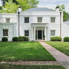 New Richmond, Richmond Virginia, All White, Curb Appeal, Exterior Design, Facade, Beautiful Homes, New Homes, Mansions
