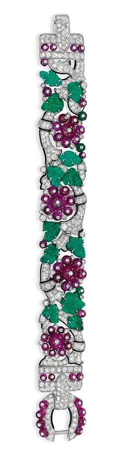 Cartier Tutti Frutti bracelet, Art Deco period