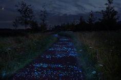 Fietsen over De Sterrennacht, geïnspireerd door Van Gogh – door Daan Roosegaarde
