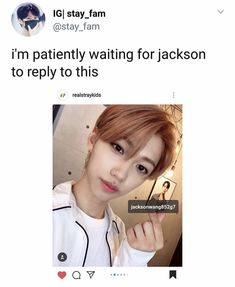 Jackson replied: Thank you Felix how sweet of you💕 Kdrama Memes, Funny Kpop Memes, Kid Memes, Felix Stray Kids, How To Stop Procrastinating, Lee Know, Day6, Kpop Groups, Little Babies