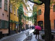 Streets and Rain in Stockholm