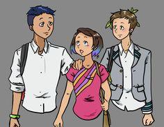 Jeanne-Potatoes-G and Pon-Monster's (dA) My Hero Academia (BnHA) OCs by Jeanne-Potatoes-G