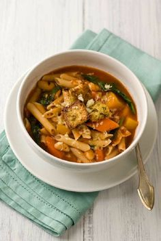 Gluten Free Minestrone Soup with Pesto Croutons