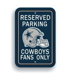 NFL Dallas Cowboys Parking Sign, Multicolor