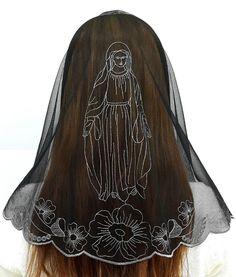 Anna Veils Holy Catholic Church Mass Veil Chapel Lace mantilla - Virgin Mary