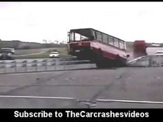 Car and Barrier crashes during test run caught video released - YouTube