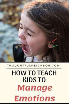 8 Ways To Teach Your Child To Manage Emotions, including a free printable chart. Anger Management activities and coping skills to teach your kids to calm down at home. | Follow Thoughtful Mom for more parenting tips. | #copingskills #copingstrategies #kidsandparenting #parentingtips