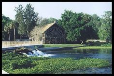 Old Spanish Sugar Mill Griddle House. Cook your own pancakes at your table :)   DeLeon Springs State Park FL