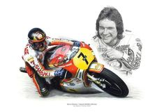 Barry Sheene/Suzuki Limited Edition Giclee Print By Wayne Henley Norton Motorcycle, Motorcycle Racers, Motorcycle Art, Up Imagenes, Guy Martin, Pigment Coloring, Road Racing, Limited Edition Prints, Fine Art Paper
