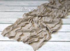 Newborn Taupe Ruffle Knit Stretch Wrap by PetuniaandIvy on Etsy, $12.00