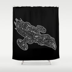 black serenity Shower Curtain by Casey Virata - $68.00