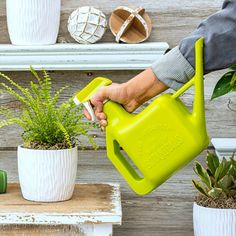 54 oz watering pot and spray bottle combination is made of durable lightweight plastic, has an easy squeeze trigger mechanism - ideal for long duration use.