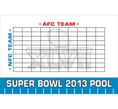Super Bowl Pool Ideas heat map of win probabilties first quater 2013 Super Bowl Xlvii Theme Pool Board A Great Super Bowl Party Game