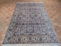 6 x 9 Hand Knotted Lavender Agra Oriental Rug by OrientalRugGalaxy, $599.00