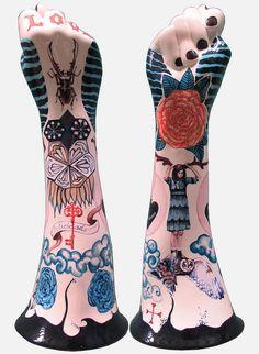 By Evelyn Tannus Art Mannequin, Plaster Hands, Show Of Hands, Hand Sculpture, Hand Art, Modern Ceramics, Ceramic Art, Sculpting, Pottery