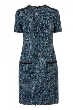 Tweed Is Officially Cool Again Tweed Dress, Wool Dress, Smart Casual Wear, Casual Dresses, Dresses For Work, Velvet Fashion, Runway Fashion, Womens Fashion, Dress Suits